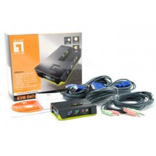 LevelOne KVM Switch 2 Port PS/2 with Audio